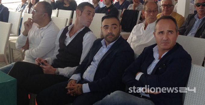 Rinaudo, Miccoli e Caliandro, procuratore dell'ex bomber salentino