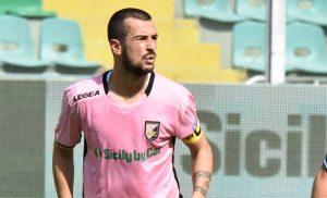 """Calcio: Ilija Nestorovski,durante Palermo-Empoli allo stadio """"Renzo Barbera"""" di Palermo 09-09 2017.MIKE PALAZZOTTO"""
