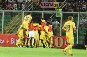 Palermo Frosinone esultanza