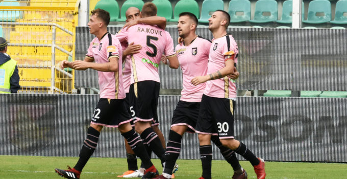 Esultanza Palermo Perugia