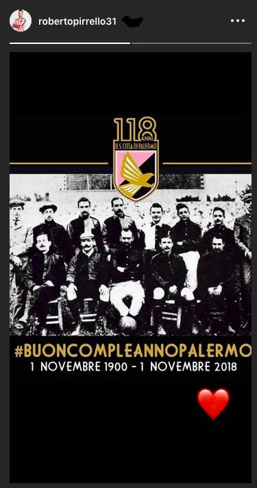 Nel giorno del centodiciottesimo compleanno del Palermo sono tanti gli auguri che stanno arrivando tramite social. Tanti tifosi ma anche giocatori ed ex stanno usando l'hashtag #BuoncompleannoPalermo per esprimere un pensiero per la squadra del cuore. Visualizza questo post su Instagram Buon compleanno mio caro @palermocalcioit !!!💓🖤 Orgoglioso di averne fatto parte 💪🏻😄 ———————————————————- #palermo #palermocalcio #buoncompleanno #118anni #buoncompleannopalermo Un post condiviso da RIGONI LUCA (@rigoni_luca) in data: Nov 1, 2018 at 2:36 PDT Giornata storica oggi per il campionato di #SerieBKT. Tanti auguri anche al @palermocalcioit che compie la bellezza di 118 anni 🎂🥂👏 pic.twitter.com/BIdwaHi3pC — Lega B (@Lega_B)