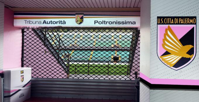 logo sede Stadio barbera Palermo vista tribuna