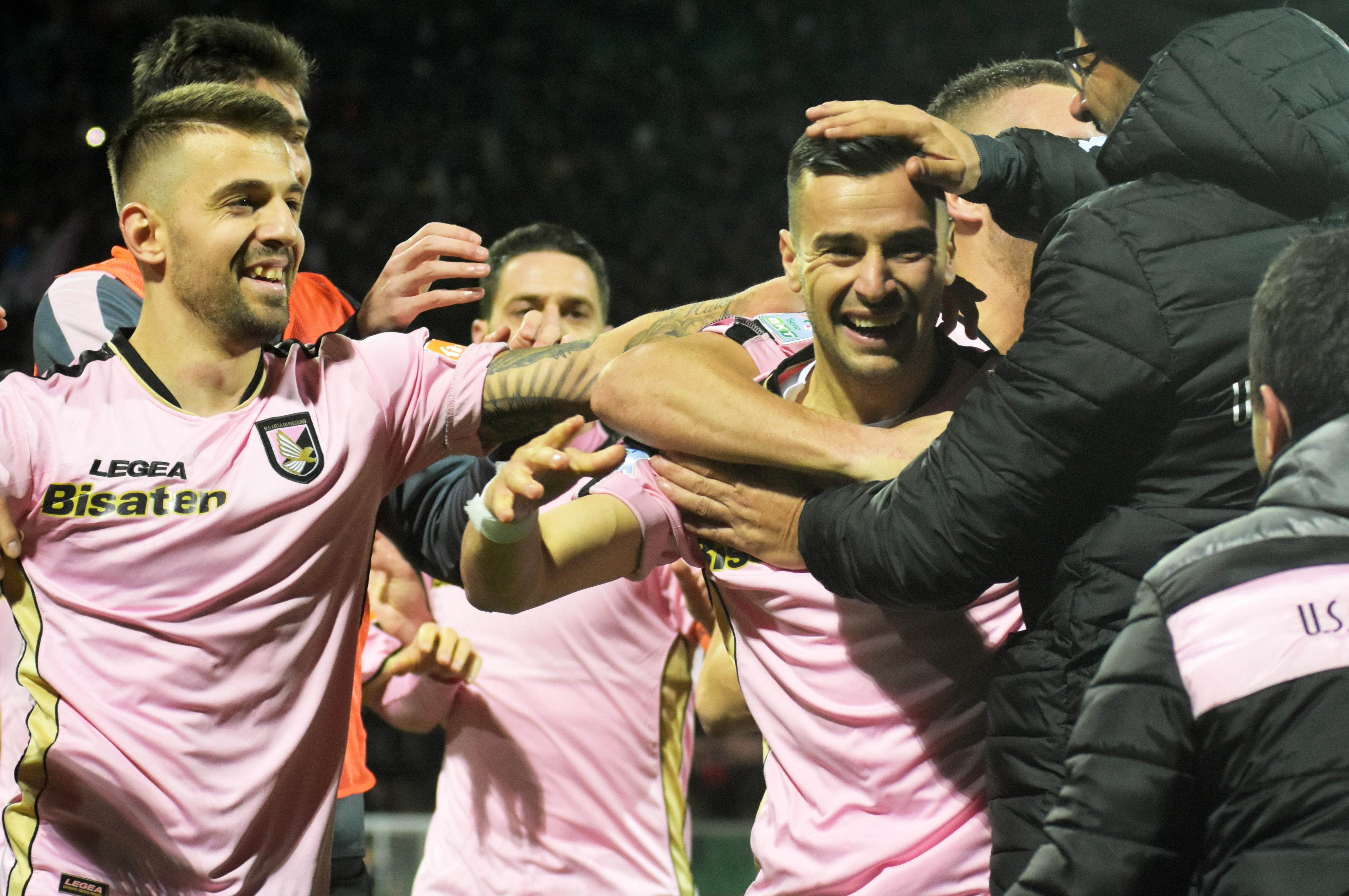 Esultanza Nestorovski Palermo - Brescia