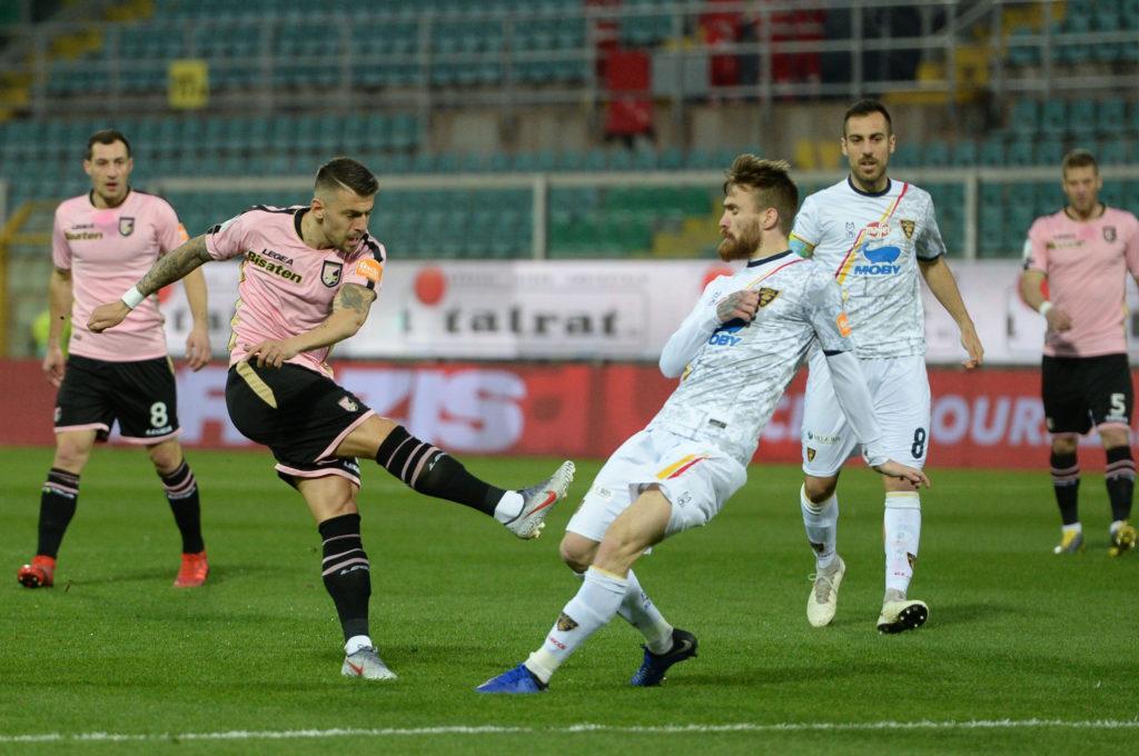 Trajkovski gol Palermo Lecce