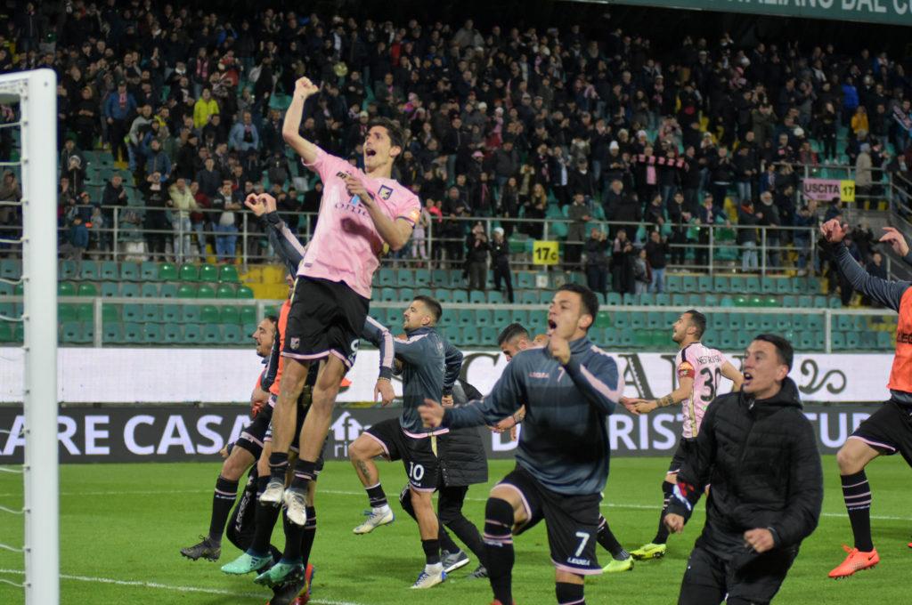 Esultanza Palermo Moreo