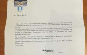 Lettera Lazio tifosi