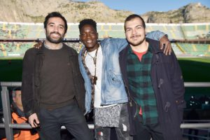 Giorgio Rausa, Boubakar Kande e Corrado Luna